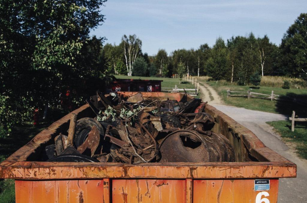 100 tonnes de déchets